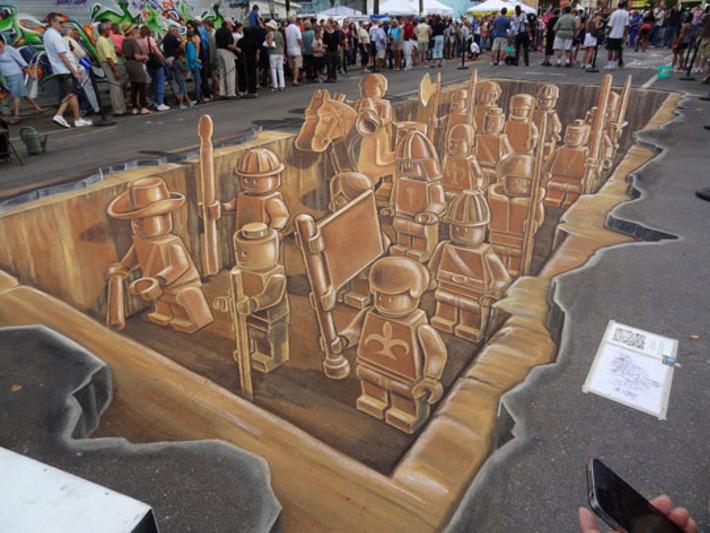 Planet Streetpainting Creates 3D LEGO Army | Machinimania | Scoop.it
