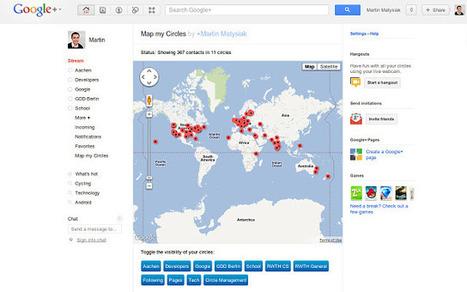 Comment localiser les cercles google plus sur google Maps? | actualité d'internet | Scoop.it