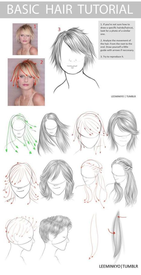 Basic Hair Drawing Tutorial | Drawing and Painting Tutorials | Scoop.it