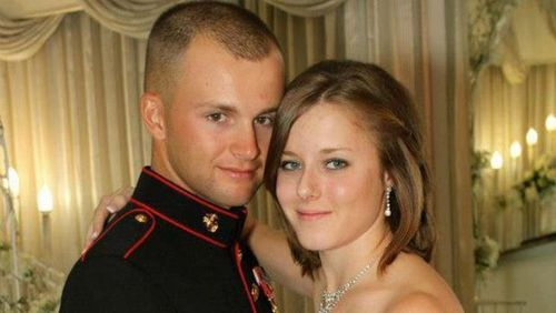 MILITARY BASE MYSTERY Cops scour video in Marine wife's disappearance