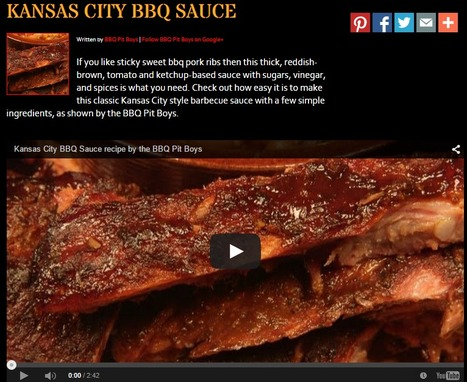 Kansas City BBQ Sauce Recipe | BBQ Pit Boys | Hobby, LifeStyle and much more... (multilingual: EN, FR, DE) | Scoop.it