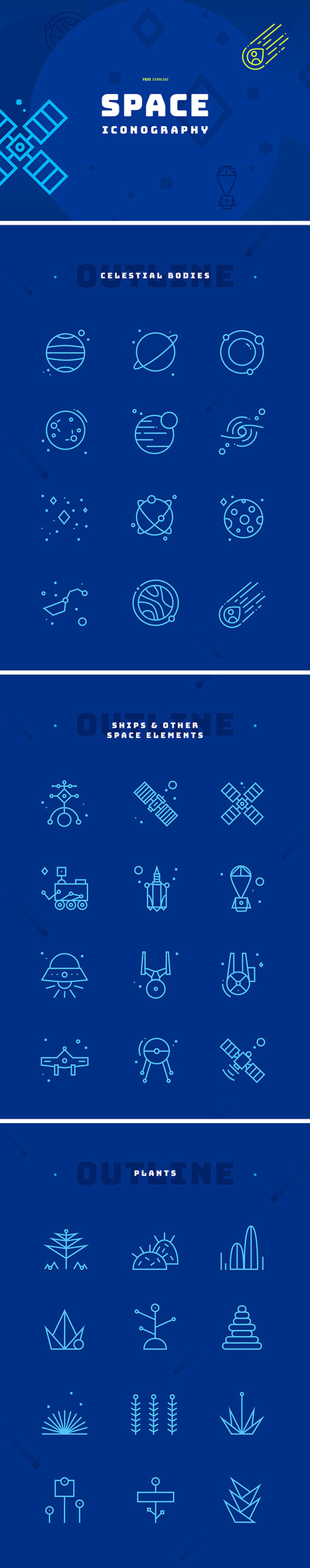 Space Iconography: 36 Free Icons | Les belles ressources ! print - web - digital | Scoop.it
