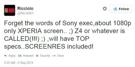 Sony Xperia Z4 might come up with Quad HD display | samsung | Scoop.it