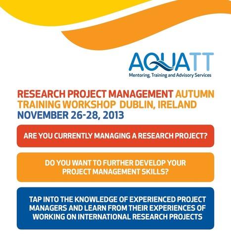 EVENT: 26 - 28 November 2013, Dublin Ireland - Research Project Management Training Workshop | MDIn | Scoop.it
