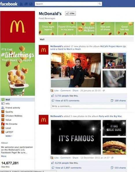 What Facebook's Timeline Brand Pages Will Look Like | Social Media for Optometry | Scoop.it