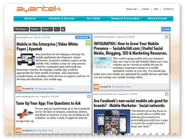 Content Curation Strategy for B2B marketers | Ayantek | Digital Marketing | Ayantek | Curation, Veille et Outils | Scoop.it