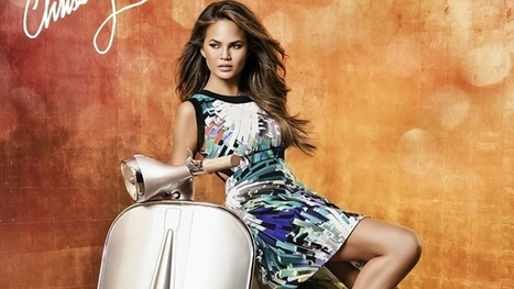 Model Chrissy Teigen Poses Next to a Douglas Vespa in XOXO Shooting | Vespa Stories | Scoop.it