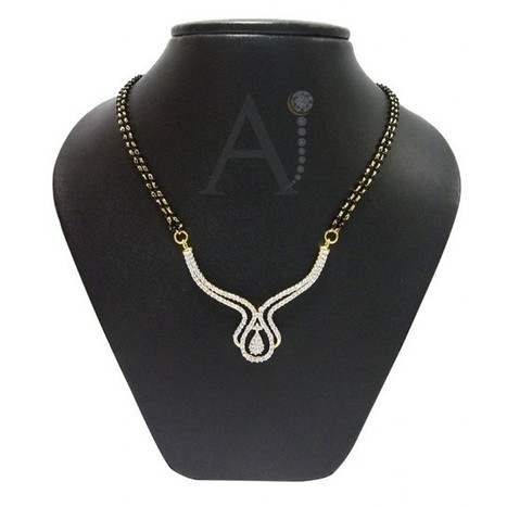Modish Central Pendant Mangalsutra Set | American Diamond Jewellery | Scoop.it