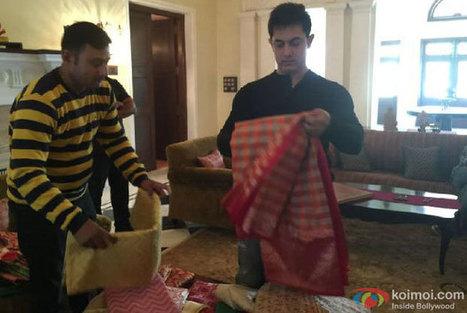 Aamir Gifts 'PK' Co-Star Anushka Sharma A Banarasi Saree - koimoi | Ethnic Wear Shop Online Odhni | Scoop.it