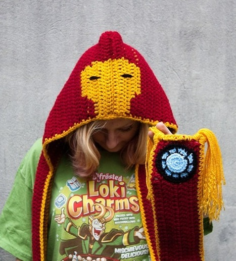 Crocheted Hooded Scarves With Thor, Iron Man And More | Geek On | Scoop.it