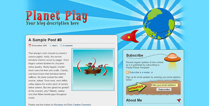 Planet Play - Blogger Theme | Blogger themes | Scoop.it