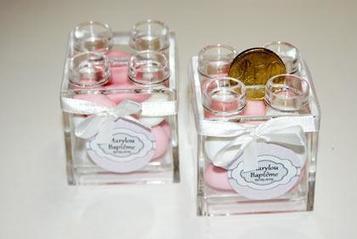 Ballotin dragées baptême lego rose | Dragée -Décoration  Mariage | Scoop.it
