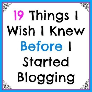 19 Things I Wish I Knew When I Started Blogging - More from Your Blog | blogging | Scoop.it