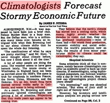 40 Years Since Climatologists Blamed California Drought On Global Cooling | Conformable Contacts | Scoop.it