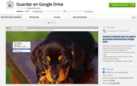 "Extensión ""Guardar en Google Drive"" para Google Chrome 
