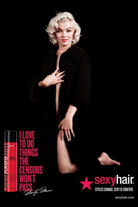 "Marilyn Monroe Fronts New Sexy Hair Campaign: ""Styles Change. Sexy is Forever."" 