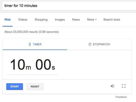 Google's Timer and Stopwatch - Easy tool for all educators (and presenters) | Moodle and Web 2.0 | Scoop.it