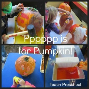 Pppppp is for pumpkin painting, pouring, pounding, and playdough play | Teach Preschool | Scoop.it