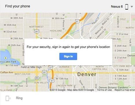 Google Find My Phone vous aide à localiser votre mobile égaré - #Arobasenet.com | INFORMATIQUE 2015 | Scoop.it
