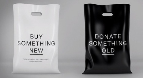 Shopping bag encourages consumers to donate clothing each time they buy a new outfit | Innovation+ | Scoop.it