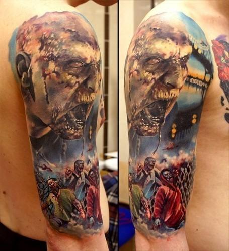 11 Terrifying Zombie Tattoos • Perfect Tattoo Artists | Tattooed | Scoop.it
