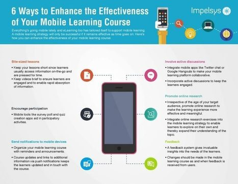 6 Ways To Enhance The Effectiveness Of Your Mobile Learning Course - eLearning Industry | mLearning - Learning on the Go | Scoop.it