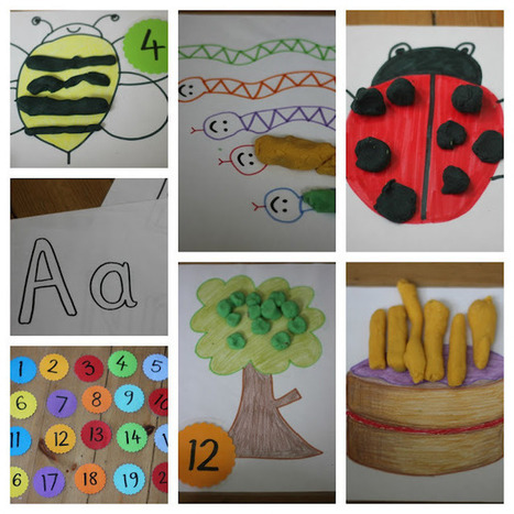 The Imagination Tree: Play Dough Learning Mats for Literacy and Numeracy Development | Jardim de Infância | Scoop.it