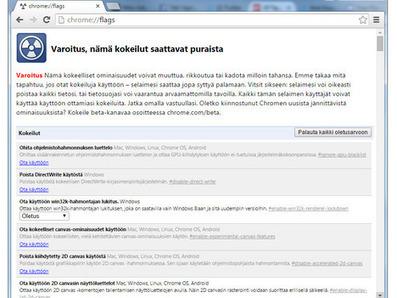 Chrome-selaimessa salainen asetusvalikko: Mitä sieltä löytyy? | Tablet opetuksessa | Scoop.it