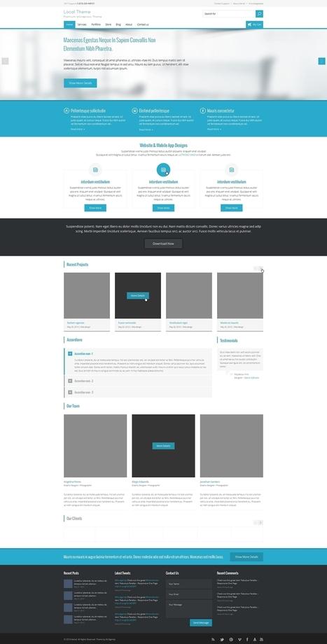 Local Theme - Free PSD Template | Web Design Freebies | Scoop.it