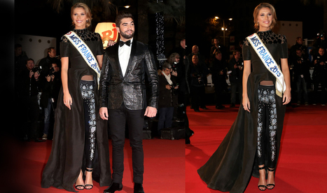 "NRJ Music Awards 2014 MISS FRANCE 2015 CAMILLE CERF dressed by the couture house ON AURA TOUT VU | Official Magazine of French House ""On Aura Tout Vu"" 