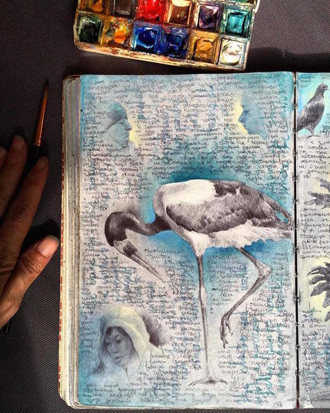 Inside the Well-#Traveled #Sketchbooks of Artist Dina Brodsky #art #painting #drawing  #nature | Luby Art | Scoop.it
