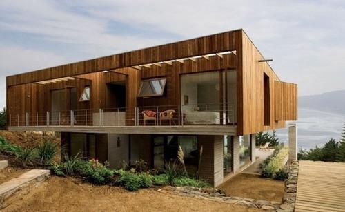 Maison bois et béton – Casa el Pangue par Elton + Leniz Architects ...