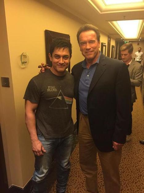 Arnold Schwarzenegger & Aamir Khan Photo in Delhi -   Entertainment News - Latest Celebrity & Showbiz News from BBC, Daily Mirror, MSN   Scoop.it