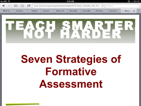 Seven Strategies of Formative Assessment | Formative Assessment | Scoop.it