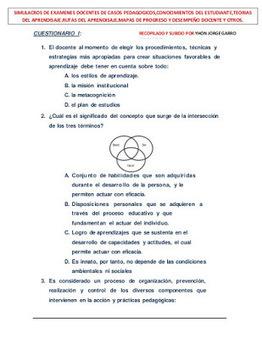 Simulacros de Examenes Docentes con 742 Casos Pedagógicos | El diario de Alvaretto | Scoop.it