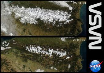 Les satellites mettent en image l'enneigement des Pyrénées | montagne | Scoop.it