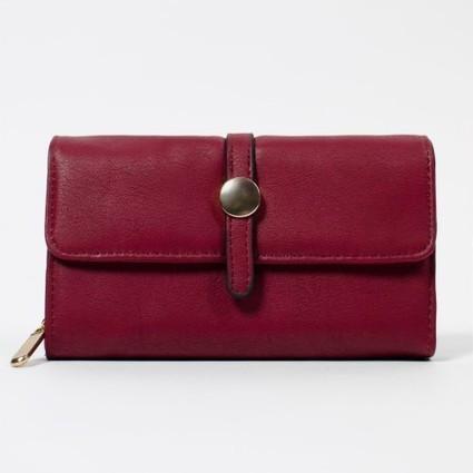 Compagnon chic rouge sombre ou bleu marine à nombreux rangements   Accessoires de mode femme   Scoop.it