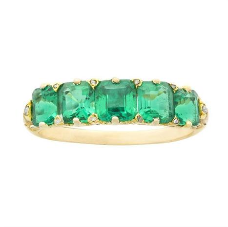 A Victorian five-stone carved half hoop emerald ring - Bentley & Skinner | Bentley And Skinner | Scoop.it