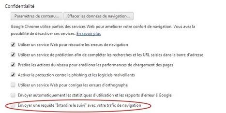 Google déploie l'option Do Not Track dans Chrome | INFORMATIQUE SITE INTERNET | Scoop.it