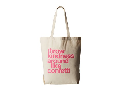Dogeared - Throw Kindness Around Like Confetti Tote (Canvas/Pink) Tote Handbags | Purses and Handbags | Scoop.it