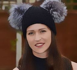 Real Silver Fox Fur Pom Beanie Hats with 2 x Large Fox Poms | Fur Fashion | Scoop.it
