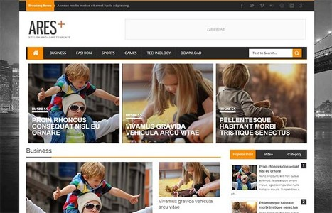 Ares Responsive Blogger Template | Blogger Templates | Scoop.it