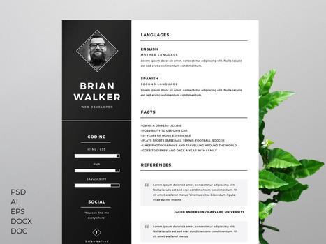 10 modèles de CV créatifs gratuits - Blog du Modérateur | Boite à outils E-marketing | Scoop.it