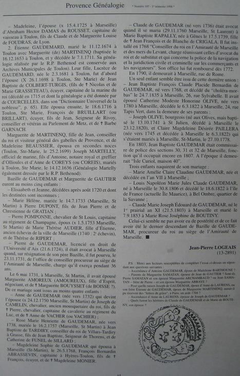 Varia - Histoire & Généalogie: De GAUDEMAR, procureur du roi à l ... | Chroniques d'antan et d'ailleurs | Scoop.it