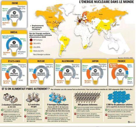 L'énergie nucléaire dans le monde | datavizualisation | Scoop.it