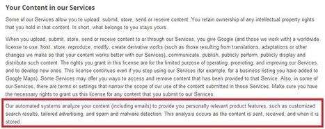 Gmail : Google déclare officiellement scanner les emails | Communication - Marketing - Web | Scoop.it