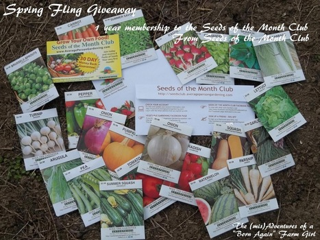 "The (mis)Adventures of a ""Born Again"" Farm Girl: 1 year Membership to the Seeds of the Month Club Giveaway 