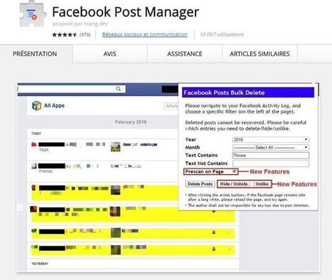 Facebook Post Manager : supprimer tous ses vieux posts Facebook. | Thoughts and facts about [social] media | Scoop.it