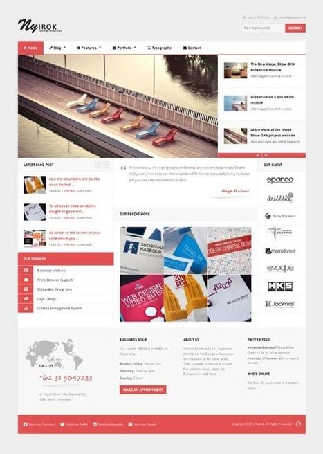 Nyirok, Joomla Responsive Portfolio Business Template | Premium Download | Premium Joomla Templates Download | Scoop.it