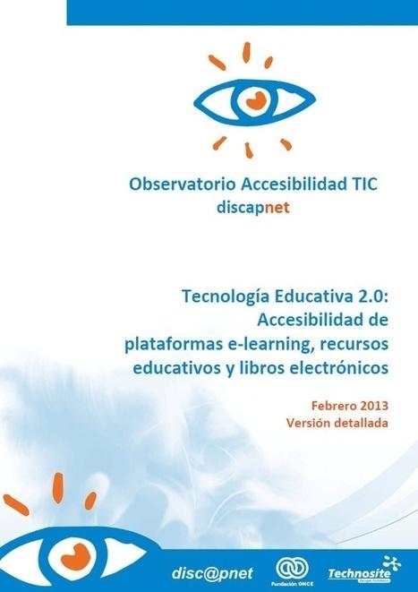 Tecnología Educativa 2.0: Accesibilidad de plataformas #eLearning, recursos educativos y libros electrónicos | Notas de eLearning | Scoop.it